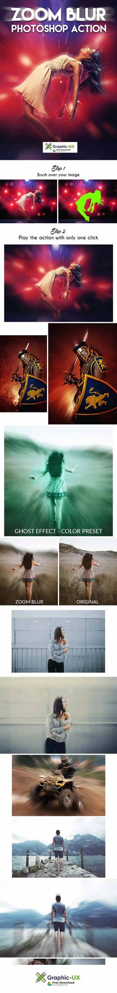 Zoom Blur Photoshop Action – GraphicUX Free Photoshop, Photoshop Actions, Original Image, Lightroom Presets, Blur, Your Image, Wordpress Theme, Photography, Photograph