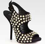 Giuseppe Zanotti Studded Suede Slingback Sandals http://www.royaltylingerie.com/luxury-shoes-for-women.html