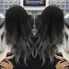 Love This! Shared By La Vita È Bella On We Heart It Love this! shared by La vita è bella on We Heart It Ombre Hair black to grey ombre hair Black To Grey Ombre Hair, Ombre Hair Color, Cool Hair Color, Gray Ombre, Dark Ombre Hair, Grey Ambre Hair, Black Colored Hair, Black Hair Colors, Dyed Black Hair
