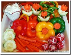 dip, healthy toddler snacks, vegetable trays, veggie tray, healthy kid recipes, lunch, garden, parti, edible flowers