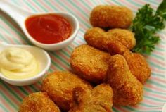 Try making your own chicken nuggets with your kids this holiday. Besides homemade nuggets containing real meat and healthier than store bought, it is fun having the entire family cooking together. Children who are involved in the cooking process will learn to appreciate the process of food pre Cooking Together, Chicken Nuggets, Children, Kids, Healthy Recipes, Homemade, Meat, Store, Ethnic Recipes