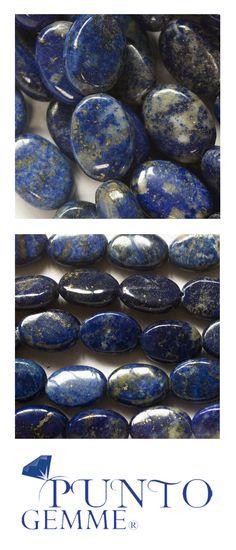 Flat Oval of lapis 10x14mm #lapis #gemstone #gemmopoli