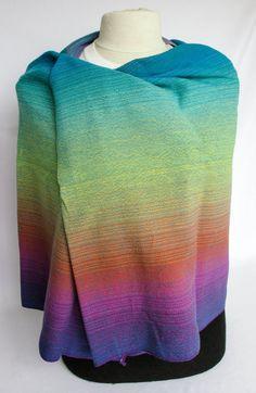 1.5 meter Neon Rainbow CoK Handwoven Cloth Handmade by ClothofKin