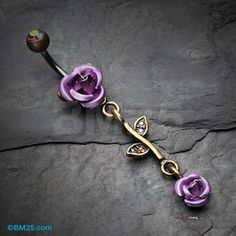 Vintage Rustica Metal Rose Belly Button Ring Bellybutton Piercings, Cute Piercings, Piercing Tattoo, Tongue Piercings, Cartilage Piercings, Rook Piercing, Belly Button Jewelry, Belly Button Rings, Rose Jewelry