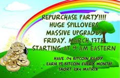 ****2 Months Anniversary Party!!!****  Turn .04btc into 15btc monthly! ONE TEAM! ONE LINK! ONE DREAM! Join our event here https://www.facebook.com/events/448091318855292/ Purchase before the masses here: www.BTCFloodTeamTidalWave.com