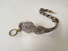 Wisconsin Spoon Bracelet in Antique Brass by GeorginaBaker on Etsy, $36.00