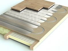 Underfloor Heating For Wood Floors - More and more folks are choosing wood floors for anyone with allergies. Electric Underfloor Heating Mat, Underfloor Heating Systems, Deck Flooring, Basement Flooring, Flooring Tiles, Bathtub Plumbing, Hydronic Radiant Floor Heating, Floor Finishes, Home Repairs