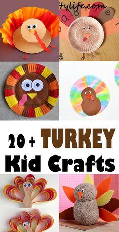 Turkey Kid Crafts – Thanksgiving Fun