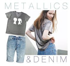 """""""Metallics & Denim """" by boymeetsgirlusa ❤ liked on Polyvore featuring Boy Meets Girl and Topman"""