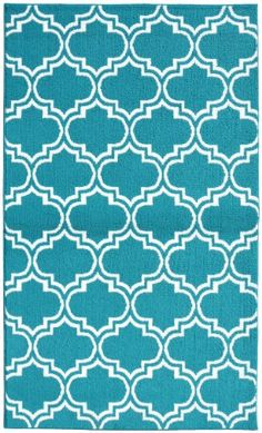 Choose the Garland Rug 5 ft. x 7 ft. Area Rug to bring your space together. This tufted rug has a trellis motif, resembling window panes, to achieve a clean vibe. It is designed with blue elements, helping to create a beautiful environment. With a 10 White Rug, White Area Rug, Area Rug Sizes, Area Rugs, Dorm Rugs, White Garland, Shades Of Teal, Area Rug Runners, Teal Area Rug