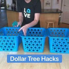 Dollar Store Bins, Dollar Store Hacks, Dollar Stores, Dollar Store Decorating, Dollar Tree Store, Diy Crafts For Home Decor, Diy Crafts Hacks, Craft Ideas For The Home, Dollar Tree Decor