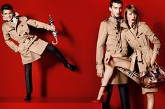 Romeo Beckham, Charlie France and Edie Campbell for Burberry spring/summer 2013
