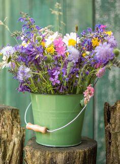 Blumenstrauß aus Wildblumen | www.mein-schoenes-land-bloggt.de