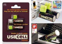 Батарейки, которые заряжаются через USB-разъем.