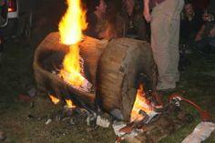 Peter Lange, NZ treetrunk kiln fired to 1200C