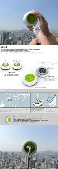 Portable solar energy charger | Még egy zöld megoldás: napelemes konnektor