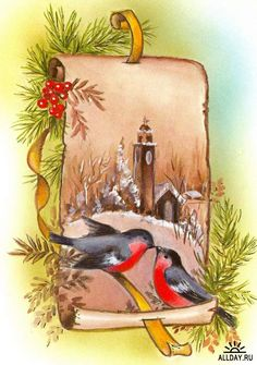 Christmas and New Year 3 - old postcards XX century   Рождество и Новый год 3 - Открытки ХХ века