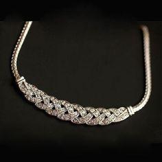 Gift Charm Jewelry Pendant Chain Crystal Choker Chunky Statement Bib Necklace #UnbrandedGeneric