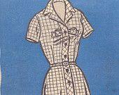 Classic Button Front Dress Mail Order Pattern 9020 Size 18 1/2 Uncut