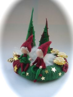 Advent wreathChristmas.elffairypixie.FeltedWaldorf. by FilzArts