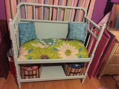 changing table to bench, painted furniture, repurposing upcycling Repurposed Furniture, Painted Furniture, Repurposed Items, Furniture Makeover, Diy Furniture, Vintage Furniture, Furniture Stores, Refurbishing Furniture, Handmade Furniture