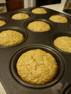 One Smart Cookie rendition of Banana Oatmeal Muffins  Lil Miss Muffie's Morning Muffie   Ingredients:   2-1/2 cups old fashioned rolled oats...