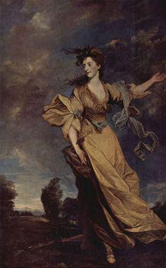 Sir Joshua Reynolds  Porträt der Lady Jane Halliday. 1779, Öl auf Leinwand, 239 × 148,5 cm. Waddesdon Manor (Buckshire, Großbritanien), National Trust. Großbritanien. Rokoko, Klassizismus.  KO 00758