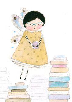 También hay hadas que son bibliotecarias (ilustración de Annie Patterson)