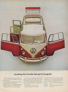 VOLKSWAGEN Bus Original Ad Homely Vintage by StillsofTime on Etsy