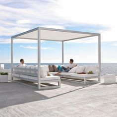 Pergola sofa is a outdoor space to enjoy your outdoor furniture with your friends and visits. Wooden Pergola, Outdoor Pergola, Diy Pergola, Pergola Kits, Outdoor Spaces, Outdoor Living, Pergola Decorations, Building A Pergola, Pergola Canopy