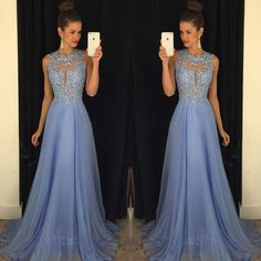2016 New Lavender Prom Dresses Lace Applique Beads Formal Long Party Dresses A Line Crew Neck Sexy Back Chiffon Summer Evening Gowns Debs Prom Dresses Designer Prom Dresses From Allanhu, $183.25| Dhgate.Com