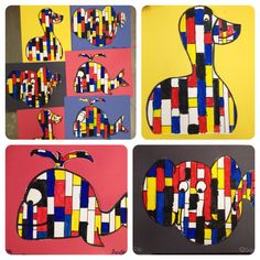 Matisse cut outs - collage art lesson - special education project ...