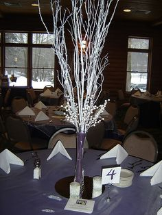 Image detail for -Winter Themed Centerpieces : wedding centerpieces decor reception ...