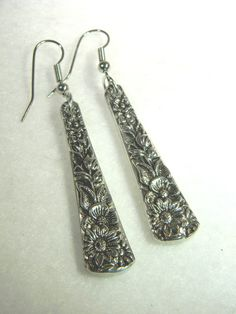 Items similar to Spoon Earrings - Silverware Jewelry - OLDE BOUQUET on Etsy