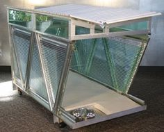 dogs who live in glass houses shouldn't...  #doghouse