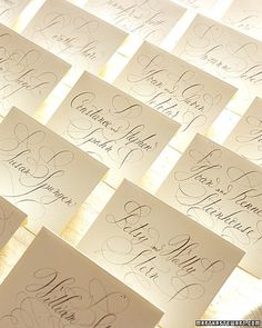 calligraphy formal escort cards wedding party event