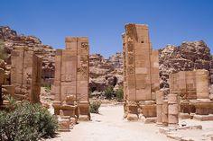 Las ruinas de La Puerta, Jordania Petra