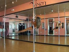 Online Pole Dance Lessons! Spinning Pole Dance Freestyle - OnlinePoleLessons.com - YouTube