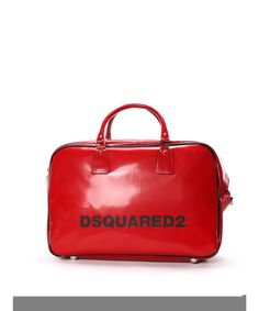 DSQUARED2 Dsquared2 Men'S  Red Pvc Briefcase'. #dsquared2 #bags #shoulder bags #hand bags #pvc #