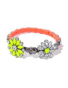 FLOWERS AND SKULL BRACELET WITH A TOUCH OF NEON - Accessories - Accessories - Woman - ZARA France