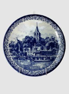 Delft Blue Plate, Delft Platter, Delft Pottery Charger, Delftware Wall hanging  #etsygifts