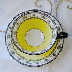 Art Deco Aynsley tea cup & saucer,   1926-1934 mark.