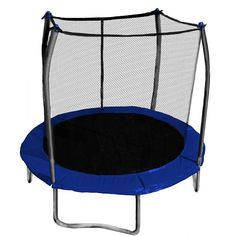 Skywalker Trampolines 8-ft. Round Trampoline with Enclosure, Blue