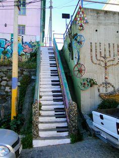 Street art Using Public Steps
