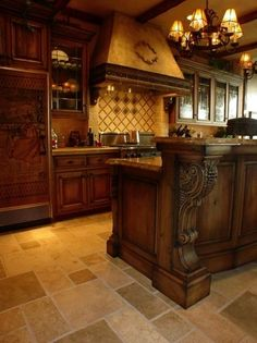 Old World Style Kitchen Design | Kitchen Cabinet Styles - Kitchen Design Ideas - Pictures of