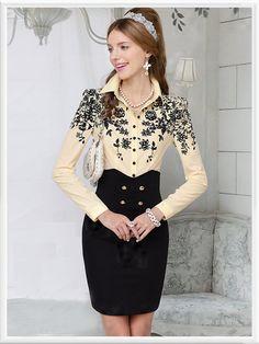 Morpheus Boutique  - Beige Floral Button Down Ruffle Long Sleeve Celebrity Shirt, CA$82.04 (http://www.morpheusboutique.com/beige-floral-button-down-ruffle-long-sleeve-celebrity-shirt/)