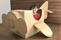 Basteln mit Kindern karton flugzeug