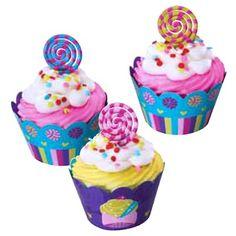 Easy Cupcake Decor! Lollipop Cupcake Picks $3.50 for a set of 12.