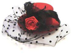Red & Black Mini Top Hat