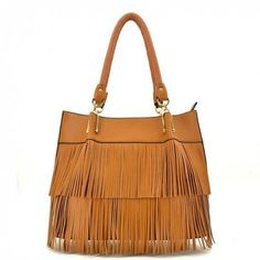 Tasseled Tote Handbag MORE COLORS
